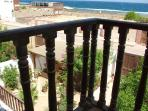 view from balcony on garden Apt Blue Light Dahab