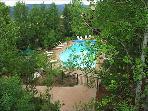 Heated Pool in lush setting