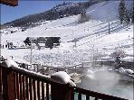 View of Pool and Slopes from Deck