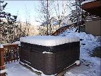 Large Hot Tub on Deck