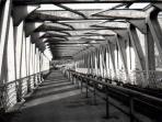 disused railway bridge over the Avon