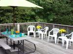 Spacious Back Deck with Picnic Table