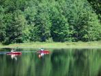 Kayakers on Black Moshannon State Park Bog - free Kayak to all renters from April 1 - October 31