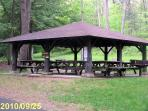 One of many pavilions for use at Black Moshannon State Park
