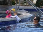 Pool also has a shallow section for the very little ones.