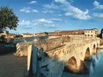 Roman  TIBERIO bridge in RIMINI