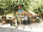 Athens: outdoor restaurant in the 'Plaka' tourist area