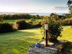 View over garden to lake (Lough Derg)