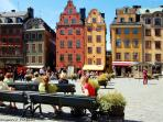 One of Stockholm's lovely squares - Many thanks to Hermann / Pixelio for the image