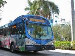 For just 25 cents, catch this bus, one street away from our condo & travel all around South Beach!