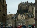 Edinburgh Castle seen from the Grassmarket