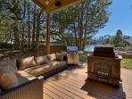 Take in the natural beauty surrounding you while lounging on the comfy outdoor furniture. Please note, the fire pit is...
