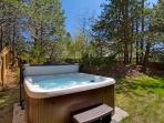 Cap off a great day by relaxing in the private 6 person hot tub.