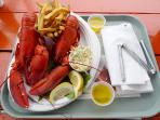 Lobster Dinner-Enjoy at the Cottage or at Five Islands