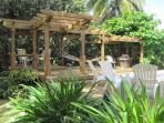 shade structure, seating, BBQ, and hammock