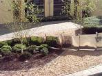 Landscaped Courtyard outside apartment.
