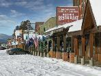 The village of West Yellowstone, MT