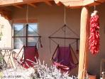 The hammocks on the front porch