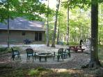 Back of Yard and Fire Pit