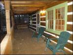 Large wrap around decks with patio furniture