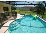 Pool and Spa with brand new Child Safety Fence