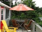 Fire up the BBQ and enjoy a meal alfresco on the patio table and chairs.
