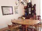 The dining room at the Shorewood House is large enough to seat 6 to 8 people comfortably.