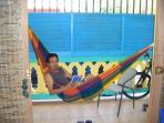 There are two hammocks to use on the balcony or beach!