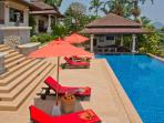 Phuket Luxury Villa Rental - Villa Oriole - Pool Deck with 18 metre swimming pool