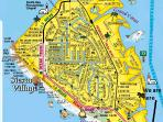 Map of Siesta Key Village