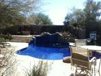 Backyard pool, Spa, Gas & woodFire pit