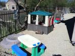 Outside kids play area