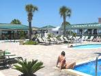 3 Pools, Largest (To the Left) is the Only Outdoor Year-Round Heated Pool on Tybee