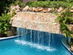 WATERFALLS IN POOL