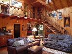 Staircase Crafted log staircase to upper level