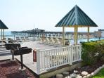 Charcoal grills and picnic area