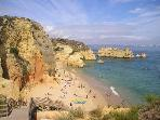 The picturesque Praia Dona Ana is regarded as one of the best beaches in Europe