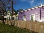 Side view of Mardi Gras Cottages