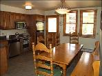 Fully equipped kitchen with eating area for 8