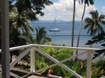 View of catamaran from bedroom deck