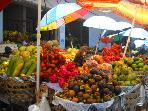Our local fresh fruits & veg. market. We buy fresh every morning what we do not grow in our gardens.