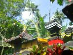 Our Balinese Family Temple dressed up for a ceremony