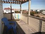 Top level deck with ocean view and swing