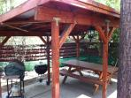 Covered Patio-BBQ and Picnic Table