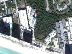 Satellite Photo Showing Condo Location And Very Close Proximity To The Beach