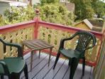 Private veranda off bedroom (#8, honeysuckle)