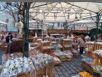 Easter market on the Freyung square, 3 minutes walk