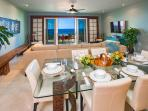 J505 Exceptionally Well-Equipped Gourmet Kitchen with Bar Top Seating for Three and Indoor Dining for Six