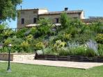The lower terrace of the garden at Casa Carotondo