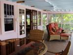 lanai (screened-in) with French doors from sunroom